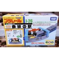【Fun心玩】TP49668 麗嬰 日本 TAKARA PLARAIL 鐵道王國 J-26 曲線車站 火車 生日 禮物