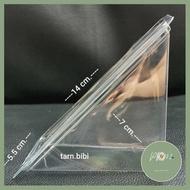 กล่องแซนวิชเรียบ กล่องแซนวิชพลาสติก กล่องแซนวิชสามเหลี่ยม กล่องใส่แซนวิช 100 ชิ้น มาแรง ร้าน PP702
