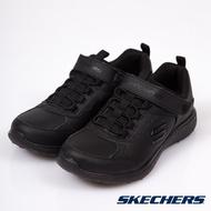 Skechers 全黑 MICROBURST 皮革運動鞋 女童鞋 NO.R2948