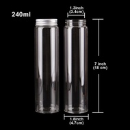 50ml 80ml 120ml 150ml 200ml 240ml Glass Bottles with Aluminum Caps Glass Spice Jar Candy Jars Pill Container 12pcs