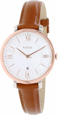 Fossil ES3842 Women's  Rose Gold/Brown Leather Fashion Watch