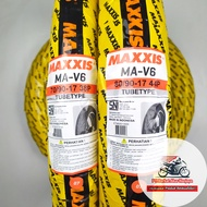 Sepasang Ban MAXXIS MA-V6 70/90 & 80/90-17 Tubetype (Non Tubeless)