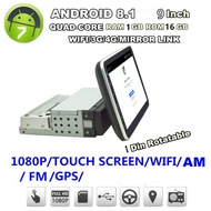 """Single 1 Din 9"""" Car FM USB AUX MP5 Player Touch Screen Stereo Radio Android 8.1"""