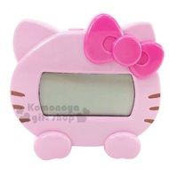 小禮堂 Hello Kitty 迷你大臉造型語音報時電子鬧鐘《粉》桌鐘.時鐘