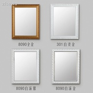 European Style Frame Bathroom Mirror Free Punch Wall Sticker
