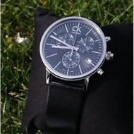 現貨全新正品 Calvin Klein CK 男錶 三眼計時商務休閒 情侶男女石英手錶 黑色皮帶+黑面 K7627107