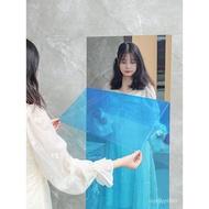 with Adhesive Tape Mirror Sticker Wall Sticker Soft Mirror Wallpaper Self-Adhesive Dormitory Full-Length Mirror Floor Wa