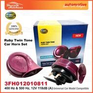 Hella Ruby Twin Tone Car Horn Set 12 Volt 400 Hertz & 500 Hertz (1 Pair)