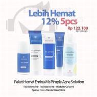 Paket Skincare Emina Antri Jerawat Ms Pimple 5 pcs 5 in 1