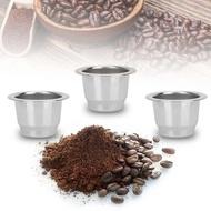 【ราคา + ReadyสหรัฐอเมริกาStock】เหล็กไร้สนิมใช้ซ้ำได้รีฟิลกาแฟแคปซูลถ้วยสำหรับถ้วยกาแฟแคปซูลเครื่องทำกาแฟเนสเพรสโซ