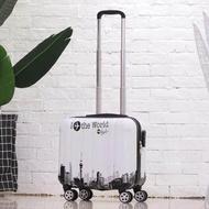 กระเป๋าเดินทางขนาดเล็ก 18 นิ้วรถเข็นกระเป๋าเดินทางสำหรับเด็ก MINI กล่องตั้งรหัสผ่านได้กระเป๋าเดินทางแชสซี