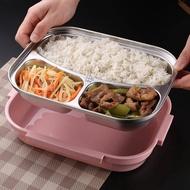 韓式304不銹鋼保溫飯盒 便當盒學生兒童成人分格餐盤餐盒