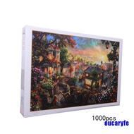 [COD]1000PCS Jigsaw Puzzles Educational Toy Scenery Quiet Town Adult Kid Puzzle