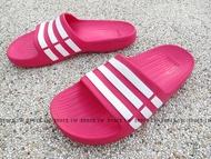 Shoestw【G06797】ADIDAS DURAMO K SLIDE 拖鞋 一體成型 桃紅白 大童