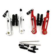 406 451 Folding Bike V Brake Caliper 108mm Long Arm Aluminum Alloy Red Silver 16/18/20 Inch Wheelset Brake Upgrade Modif