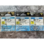 GAMAKATSU 寒 黑毛魚鉤/鉤子 #5/6/7