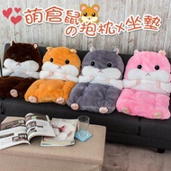 【買一送一】可愛倉鼠造型娃娃 可拆為坐墊 暖手枕 抱枕 座墊 椅墊 腰靠墊