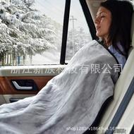電熱毯 12V車用灰色法蘭絨145*100cm加熱毯  【娜娜小屋】