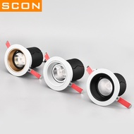 Dlos Scon Anti-glamorous Cob Downlight 7w12w Embedded Ceiling Lamp Living Room Ceiling Lamp Barrel Lamp 8 Public Separate Hole(table Light)