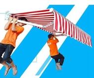 戶外遮陽棚伸縮式雨棚陽臺雨篷鋁合金遮雨棚折疊帳篷手搖停車棚蓬