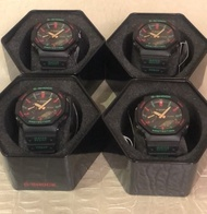 全新 CASIO G-SHOCK GA-2100TH-1ADR 聖誕節 GUCCI GA-2100