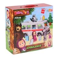 瑪莎與熊 積木組 5209 大野狼 廢棄救護車組 【鯊玩具Toy Shark】