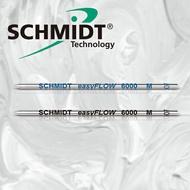 【筆芯】德國SCHMIDT EasyFLOW 6000M 溜溜低黏度超滑順D1短版原子筆芯 (3支/組)