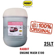 RABBIT ENGINE WASH E100- 25Lt- degreaser/ vehicle degreaser/ engine degreaser/ alkaline degreaser/ chemical cuci enjin