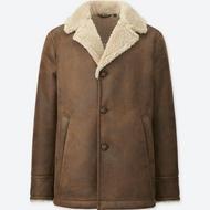 UNIQLO 粗刷毛麂皮大衣外套