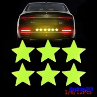 [COD]Reflective Safety Warning Stickers Pentagram Anti-collision Reflective Stickers