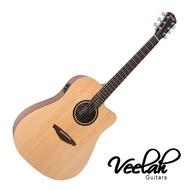 Veelah V1 DCE 40吋 缺角 民謠吉他 雲杉單板 - 【他,在旅行】