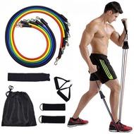 ยางยืดออกกำลังกาย แรงต้าน 5 ระดับ (Extreme Set) Resistance Band Latex Tube ยางยืดหูจับ สายแรงต้าน ยางยืดออกกำลังกาย ยางยืดแรงต้าน