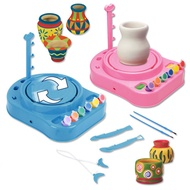 Kids Bginners Pottery Wheel Kit with Paints and Tools DIY Toy Best Gift