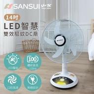 【SANSUI 山水】獨家專利 14吋LED智慧雙效驅蚊DC扇 SDF-14M01(充電式風扇)