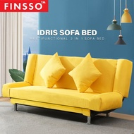 FINSSO: IDRIS Living room 2 in 1 Foldable Sofa Bed (3 seater or 4 seater)