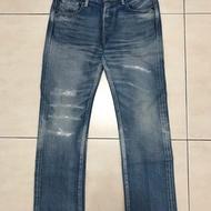 Kuro jeans 日本製 合身直筒褲 w30 赤耳 made in Japan