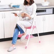 【IRIS OHYAMA 愛麗思歐雅瑪】 安全二階摺疊梯 (棕/綠) OSU-2 (安全摺疊梯/折疊防滑梯/梯子/樓梯椅/室內梯) -|日本必買|日本樂天熱銷Top|日本樂天熱銷