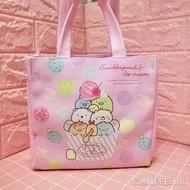 卡通美樂蒂角落生物手提包便當袋可愛KT皮革防水飯盒袋可以裝水壺