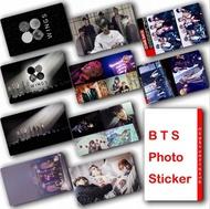 10Pcs/Set KPOP BTS Bangtan Boys Album WINGS Photocard Crystal Card Sticker- Waterproof