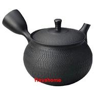 《富樂雅居》日本製 常滑燒 北龍黑泥袋形線紋 急須壺 (360ml)