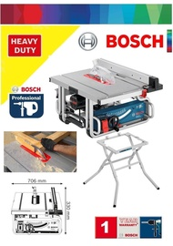 """Bosch 1800W 10"""" Bench Table Saw with Work Bench"""