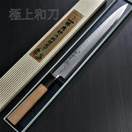 日本進口菜刀 堺孝行 大馬士革 安來白二鋼(白紙鋼)會銹 柳刃 生魚片刀