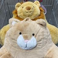 好市多 動物造型 靠墊 45*40*30公分 獅子 貓咪 娃娃