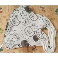 環保媽媽 貓咪 兒童尺寸 立體口罩。非中衛.淨新.康匠.AOK