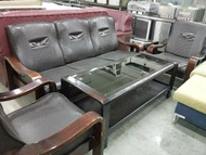 二手沙發【吉林二手貨A0100002】1+2+3實木沙發 兩人座沙發 泡茶大型沙發