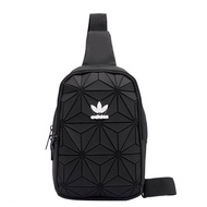 Adidas_Issey Miyake 3D Roll Top Shoulder Bag Street Fashion Casual Women Sling Bag For Girls And Boys Pouch Waist Packs Messenger Cross body Bag For Men