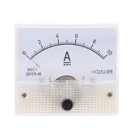 85C1 DC10A Analog Panel AMP Current Testing Meter Ammeter Gauge White