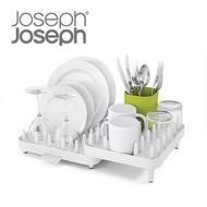【Joseph Joseph】可調式碗盤瀝水架三件組(白綠)