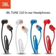 JBL T110แบบมีสายIn-EarหูฟังDeep Bassหูฟังหูฟังชุดหูฟังพร้อมไมโครโฟนสำหรับหูฟังสมาร์ทโฟน