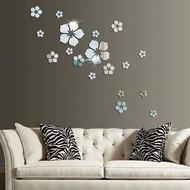 Wallpaper 3d Flower Mirror Wall Stickers Bedroom Bathroom Wall Stickers